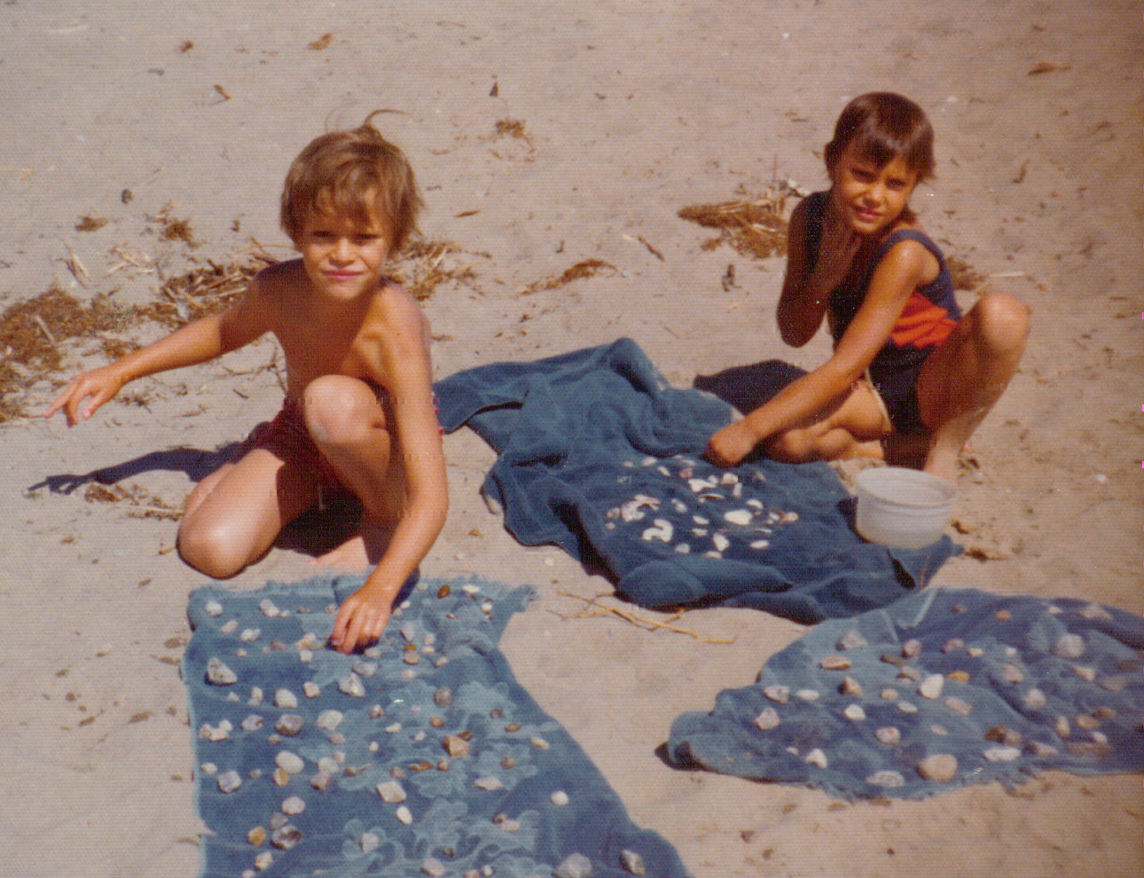 This is Craig at the beach with his sister Amymany years ago.