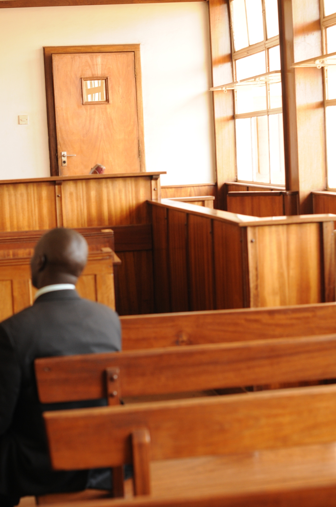This is the court room in Uganda where I stood and testified.