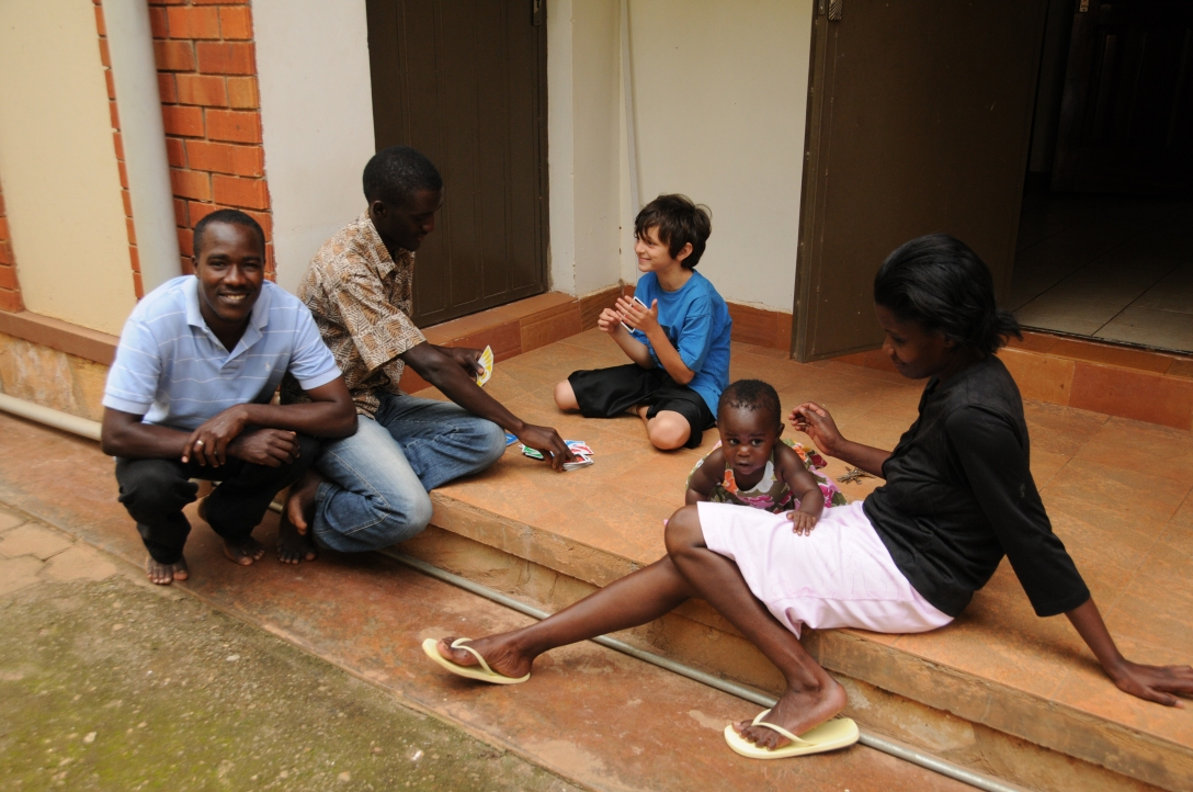 David, George, Jack, Julie and Kira on easy afternoons in Uganda during our adoption