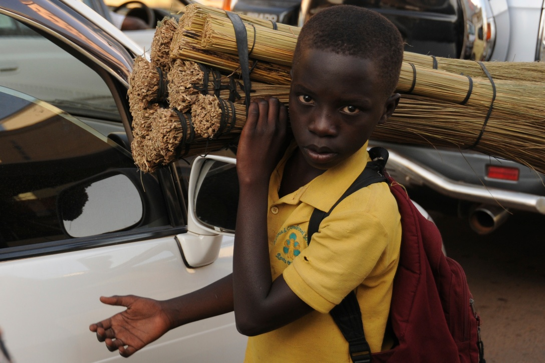 This boy sold brooms to car windows. Many of our children were sent to beg on the streets by their jjajjas. No more.
