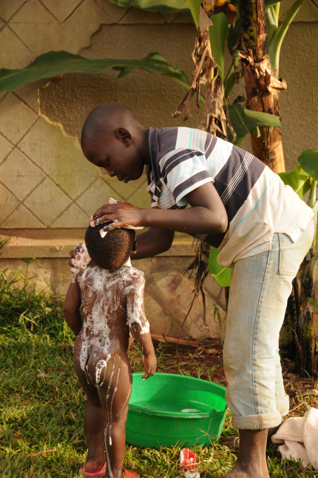 Musa loves children. He bathed Marvin as often as there was need.