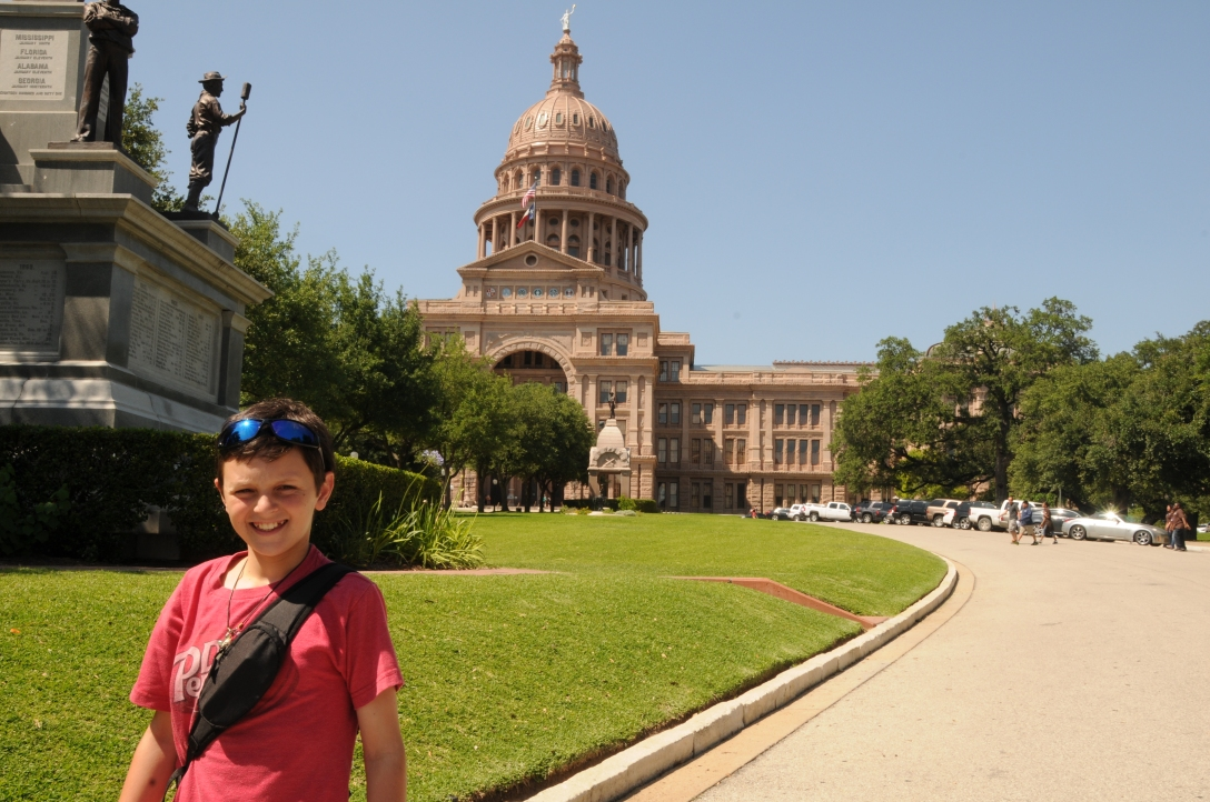 State capital of Texas in Austin.