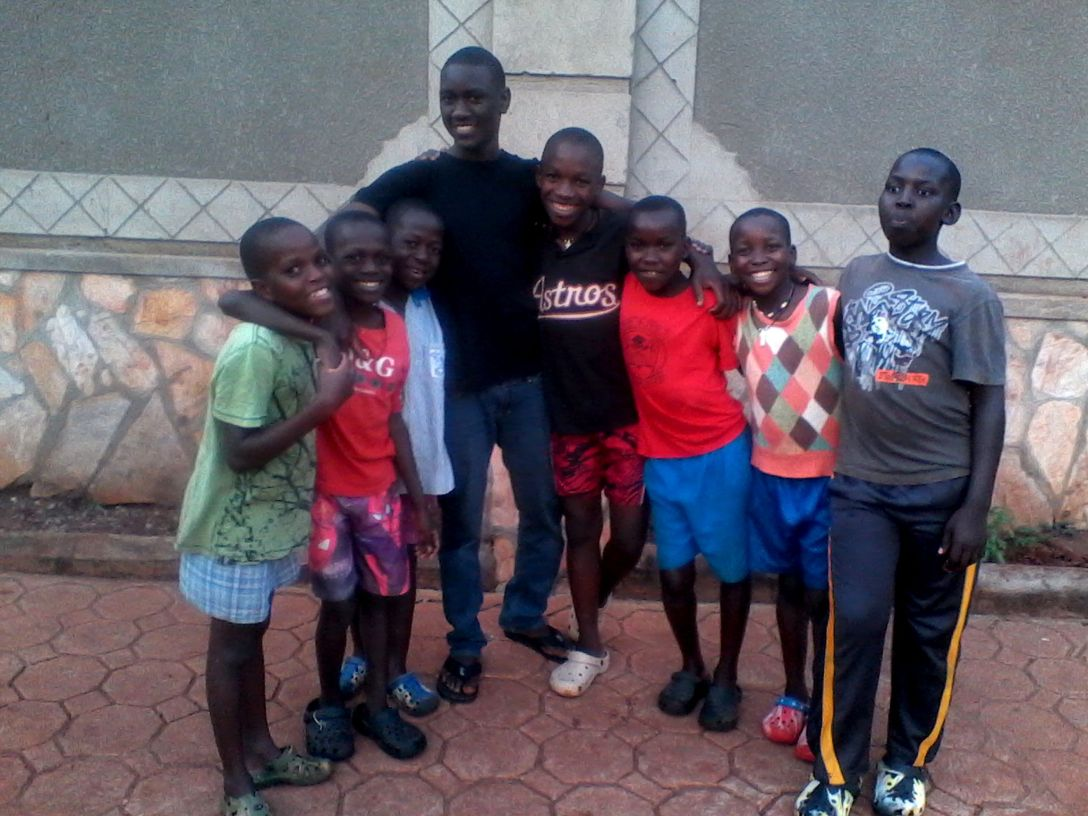 This is Kenny with some of the children