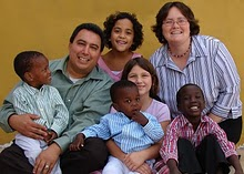 this is one of our sponsor families! They are the Garcias and they are missionaries in Chile! Can you see the lovely signs of adoption in their family? They have been with us from the very very beginning of our adoption journey and all through our growing pains of Kirabo Seeds. THANK YOU!!!