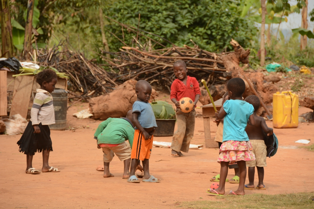 local children playing