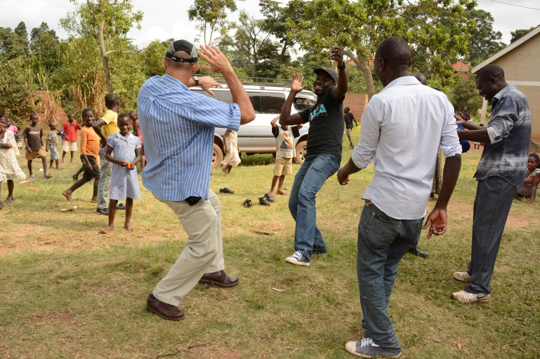Jim was sharing his moves with the African dancers...great entertainment