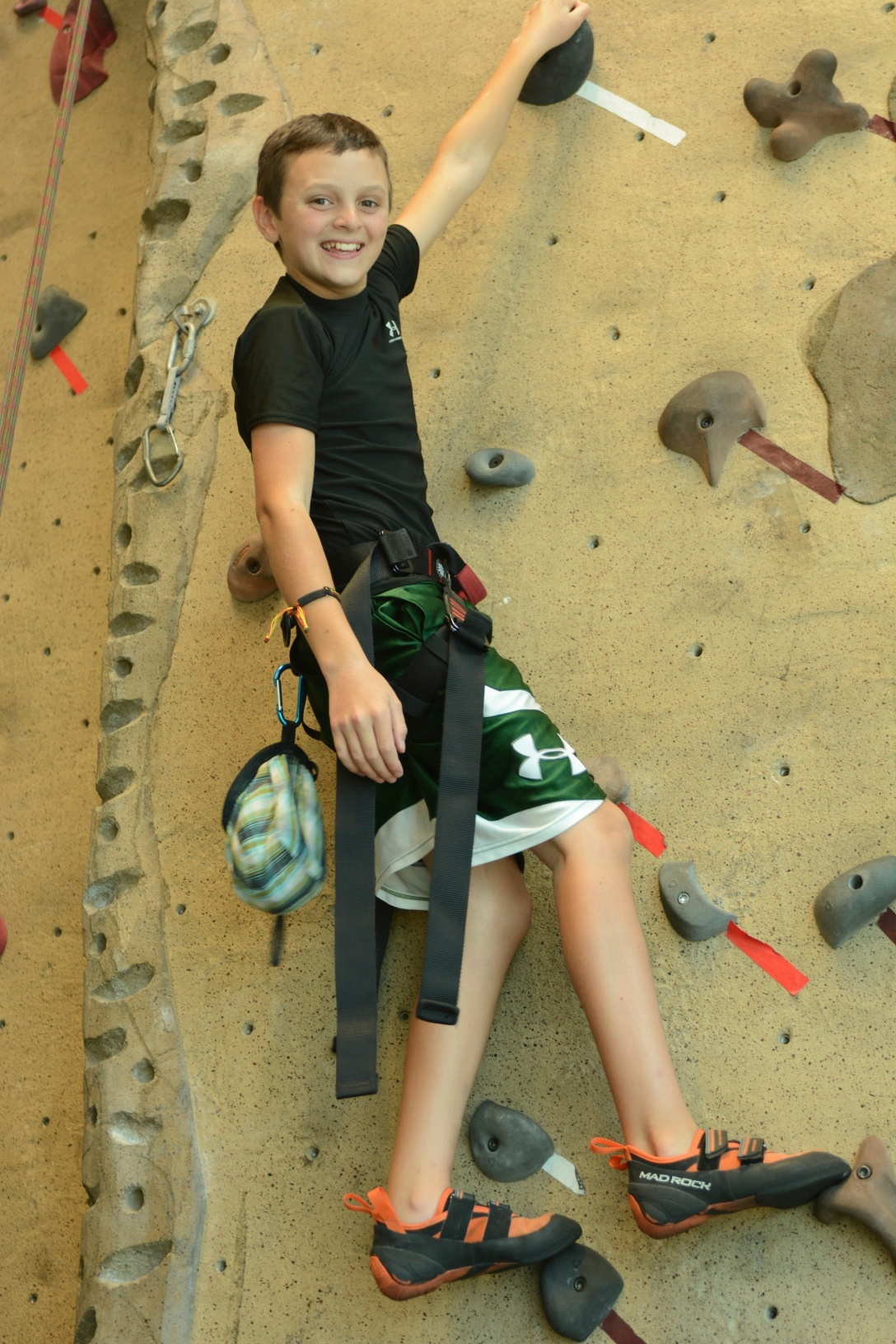 Jack won a climbing competition last weekend at Life Time.