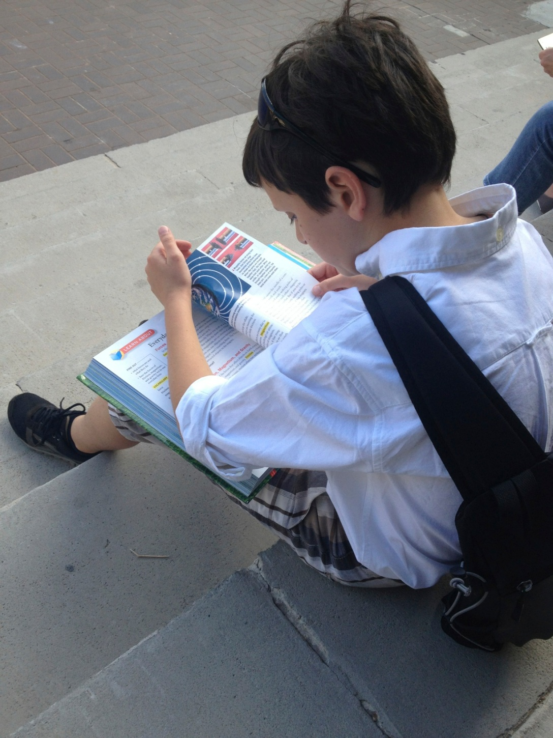 he can study anywhere we go and call it school!
