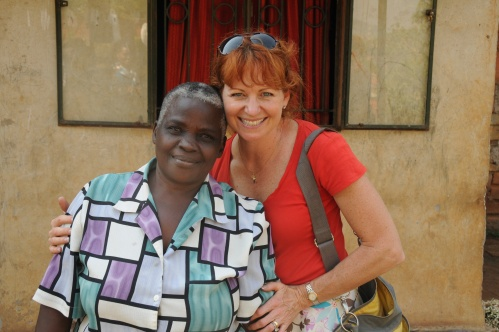 Jjajja Desire and Mama Tonya...she makes palm leaf mats for us to purchase and use for our outreaches.
