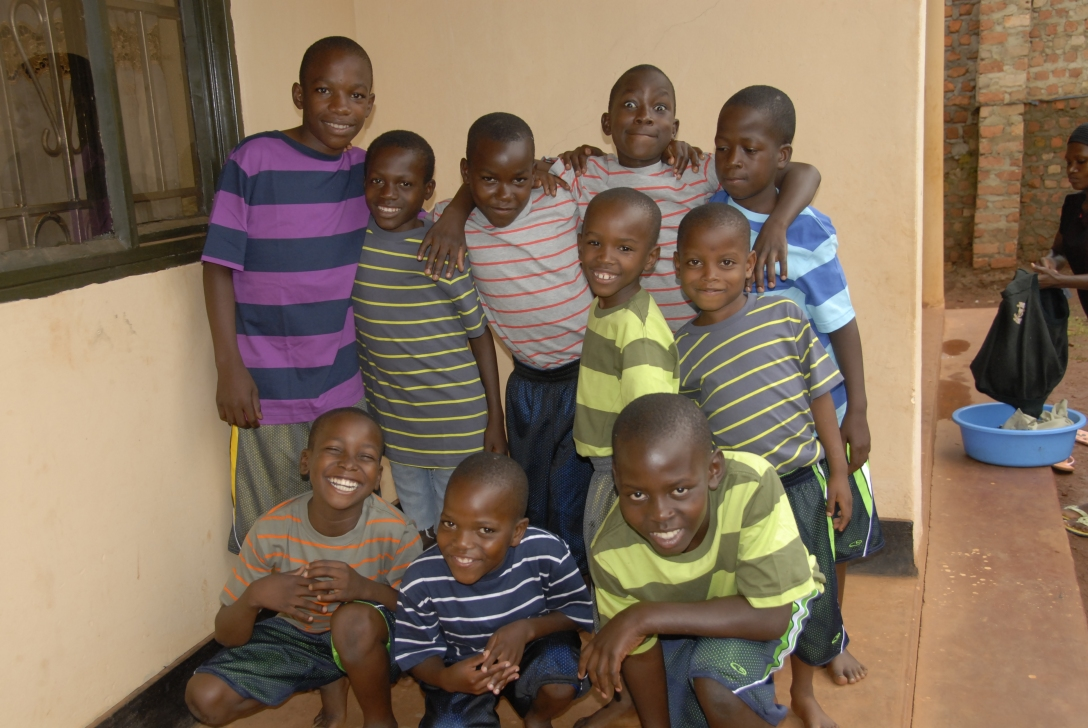six weeks after joining our home look at these boys. Musa is the big boy in the front