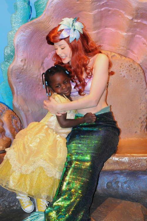 Meeting Ariel was her favorite thing ever.