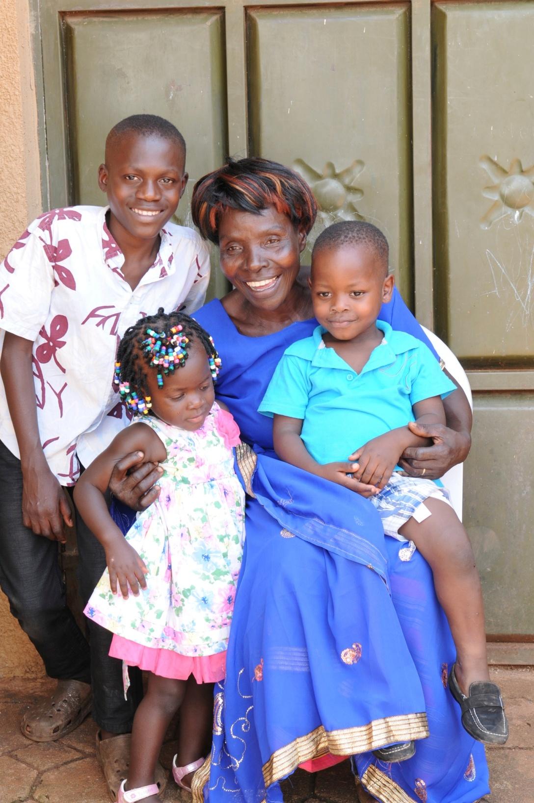 Jjajja with Denis, Marvin and Rhonah.