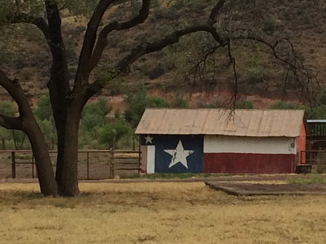 This is a horse barn at Prude Ranch.