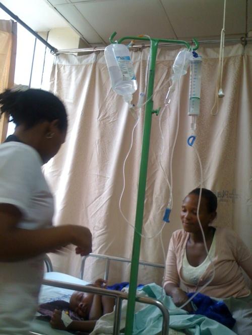 the nurse helps prepare