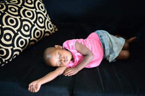 sleeping justine