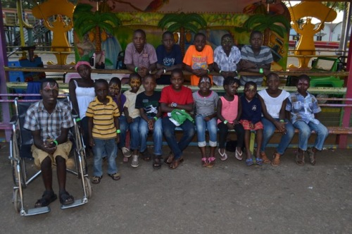 At Christmas one of our sponsors gave the children a day at wonder world amusement park! They had a great time.