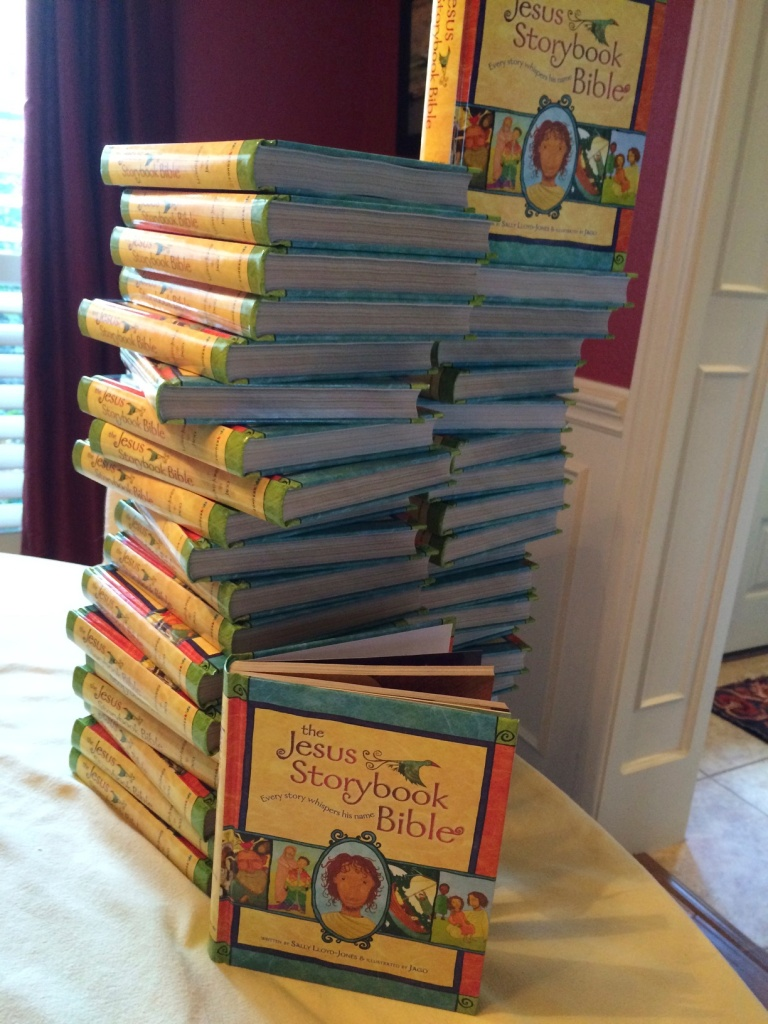 Children's Bibles! We'll always welcome more of these. There are more kids than we can count who would like a bible!