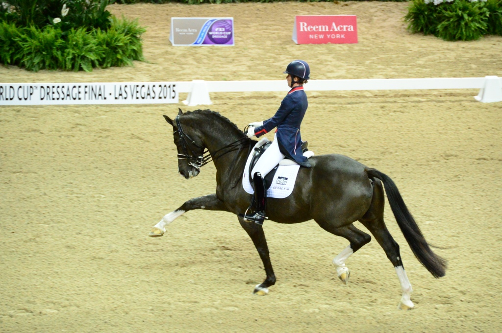 This is Charlotte and Valegro. They have set the world record in dressage. It was a gift to see them perform.