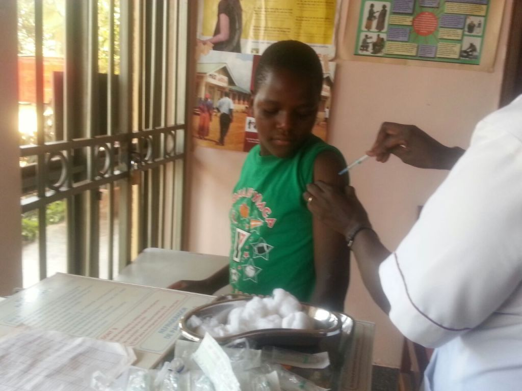 no one likes getting a shot but we believe they prevent disease so we send the children for vaccinations.