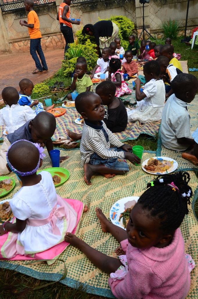 we have done outreaches in the community where our children teach the bible to community children and we always share a meal