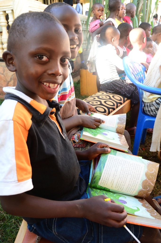 We put bibles into the hands of children within our reach. Bibles YOU donated!